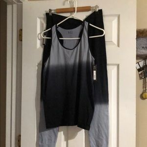 Under Control Black/Gray Work Out Outfit New